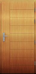 Drzwi drewniane z kolekcji AluThem, model Decyuran