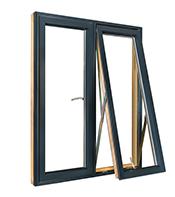 okno skandynawskie drewniano-aluminiowe Euro Alu